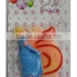 Wholesale Cinderella Cake Candle / Candle Number 0-9, available in 1 2 3 4 5 6 7 8 9 0 Kids Birthday Partyware Party Supplies