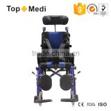 Reclining Cerebral Palsy Manual Wheelchair for Child Foldable Aluminum/Silla de ruedas para los ninos de paralisis cerebral