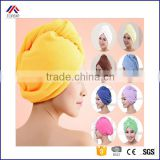 Lady Turban microfiber fabric thickening dry hair hat super absorbent quick-drying hair Shower cap Bath towel
