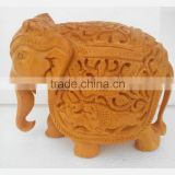wooden Elephant Jaipur Handmade Statue Sculpture India Rich Art And Craft Rajasthan Animal Figure Lion