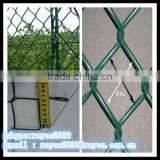 wire mesh fence vinyl coated hot dipped chain link fence manufacturer / por inmersion en caliente cerca de alambre galvanizado