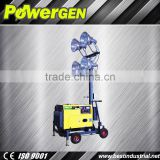 POWERGEN!!! top quality and high performance 50/60hz,4.8m 6/6.5kw lighting truss aluminium lift tower