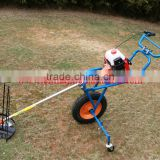 Hand push type with tyre brush cutte/rWheat Harvester 40.2 cc mini rice harvester/brush cutter