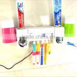 New Arrival Automatic Dual Toothpaste Holder Wall Mount UV Light Toothbrush Sterilizer Set For Wholesale