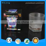 plastic flaring cup/printing plastic cup/plastic cup manufacturer /Flashing multicolor plastic material flashing lights