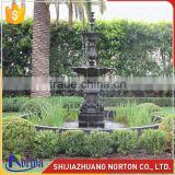 Two tiers casting large bronze dragon garden fountain outdoor decor NTBF-L483A