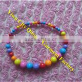Rainbow Pony Beaded Baby Chunky Bubblegum Girls Necklace for Child