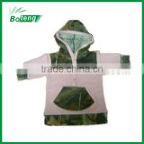 Baby girl's hoodies with camo printed