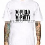 T Shirt Men No Pirlo No Party Letter Luxury Brand Short Sleeve Male Tops Retro T Shirts Plus Size