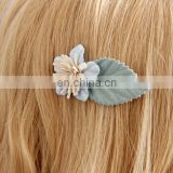 Baby Felt Flower Hair Clips With Leaf Unique Hair Clips For Baby Girl Hair Accessory