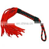 HMB-526E LEATHER FLOGGER BULLWHIP MINI BONDAGE WHIPS BDSM SPANKING BRAIDS GRIP
