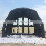 2017 Buildings black inflatable stage with the cover or backdrop