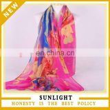Factory Direct Custom Digital Printed Voile Scarf