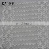 Custom wholesale african lace tulle embroidery mesh fabrics switzerland