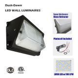 DLC qualified LED Security Lights dusk to dawn 120W, 100-277vac, Replacing 400 watts MH lamps