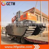 Amphibious excavator pontoon GET210P equipped Doosan motor Japan hydraulic system Marsh buggy
