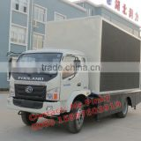 FOTON Out door Mobile LED Advertising Truck, Movie Video TV Cars, Mobile LED Screen for Media, Shows Activities for Sales