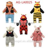 cute animal clothes baby elephant bee rabbit ladybug rompers baby AG-LA0025