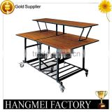 Wooden Restaurant Mobile Commercial Buffet Tables