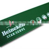 2016 new product non-slip PVC bar mat with non-woven fabric bar accessories