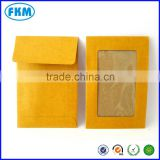 yellow kraft envelope with full window