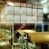 Test liner board machine for making strong carton surface paper and gypsum paper