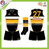 wholesale custom digital sublimation rugby vest, AFL jumpers