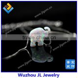 Synthetic White Elephant Opal Gemstone S925 Silver Box Chain Necklace Jewelry