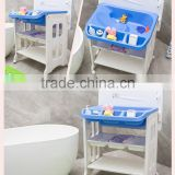 PM3318 Eco-friendly Folding Baby Bath Changing Table with Bathtub and Mat