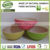 Stone two color home product disposable natural and healthy bamboo fiber salad bowl