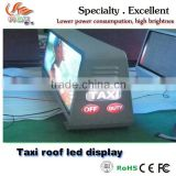 RGX New invention high brightness dot matrix taxi top full color led display / led message car display