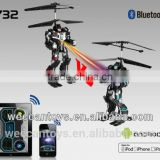 i732: APP controlled RC combat helicopter with gyroscope, 2 channel robot design helicopter