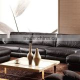 Elegant Black Color Modern Latest Corner Sofa Design Leather Corner Sofa Set Designs And Prices Sofa Corner Shape
