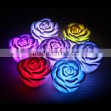 LED Romantic Rose Flower 7 Color changed Changing Lamp LED night lights Light