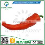 Greenflower 2016 Wholesale artificial PU Red pepper China handmaking decoration