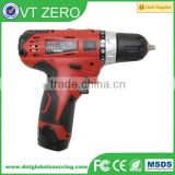 Good Quality 12V Cordless Drill Driver Chargeable Electric Cordless Drill Hammer Compact Driver Drill Rig