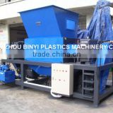 Small metal drum Shredder, Two shaft metal container shreddering machine manufactory
