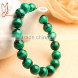 High quality natural stone bracelet malachite round beads bracelet jewelry