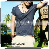 2014 High Quality V-Neck Men'S T Shirt In Multi Melange All Sizes Slim Fit Men Fashion Cotton Shirts Cool Style Men Clothes