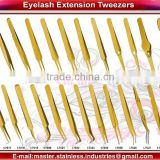 Vetus Stainless Steel Eyelash Extension Tweezers/ Anti Static Eyelash Extension Tweezers/ Professional Eyelash Extension