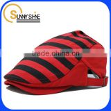 Sunny Shine wholesale beret cap red and black plaid hat