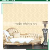 hottest foaming non woven material wallpaper,shopping mall ceiling decoration design, waterproofing wallcovering shop