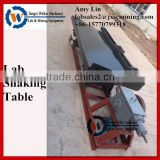 mini shaking table for mineral processing in lab, tin ore concentration equipment small gold shaking table