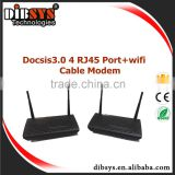 DOCISS 3.0 WIFI 4 port RJ45 Ethernet Over Coax cable modem/ Advanced Cable Gateway