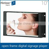 "Auto loop picture video open frame lcd screen, industrial mini 10"" advertising display frame, frameless digital signage player"