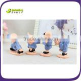 Polyresin chinese martial arts kungfu kids figurine