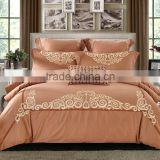 2016 new design golden color embroidery duvet cover set                                                                         Quality Choice