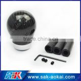 Racing Real Black 3K Carbon Fiber Aluminum Ball Gear Shift Knob Head