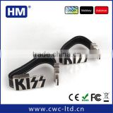 Leather USB bracelet with metal 2GB4GB8GB16GB FCC/CE/ROHS HM wholesale Custom Solution Leather USB flash drive LOGO embossing