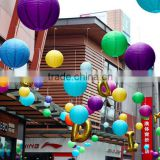 Hot Mutil Color Chinese Paper Lantern Round Wedding Lantern Birthday Party Decorations for Kids                                                                         Quality Choice